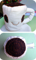 Cup of Coffee - plushie by Kitty-Sprinkles