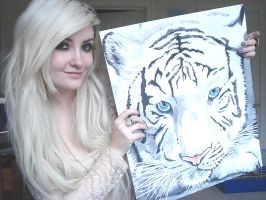 Myself and White Tiger by BeautyLoveDivine