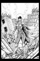 Faora (inks) by c-crain