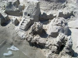 sand castle face dragon by willartmaster
