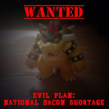 Bowser is wanted by Portalmsterking