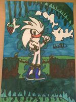 Silver The hedgehog - 3 by Fox-On-Fire