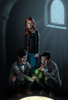 The Doctor and The Dopples by bonzombie