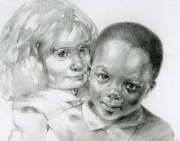Friends - pencil drawing by calvinart2B