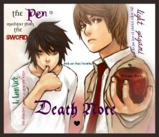 Death Note: The pen is mightier than the sword. by forevercute21