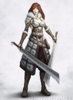 Female Warrior Concept by oneillustrates