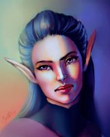 Dark Elf by TanyaGreece