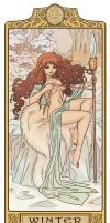 Winter Kahvi - Art Nouveau ElfQuest by MyBeautifulMonsters