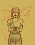 Persephone WIP 2 . by psychowolf21