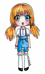 Orange Haired Chibi by TaitRochelle
