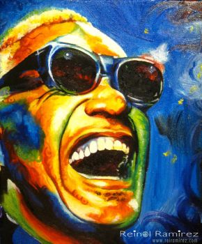 Ray Charles by DragonReverie76
