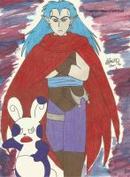 Magus and the purple spinda by MaguschildCloud