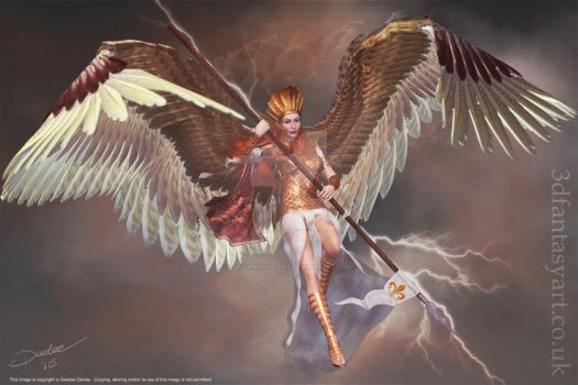 Lightning Angel by 3D-Fantasy-Art