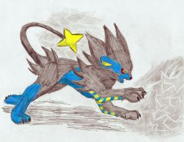 Luxray Uses Thunder by Soulful-Purple-Wolf