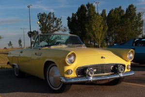 Topless Yellow Thunderbird by KyleAndTheClassics