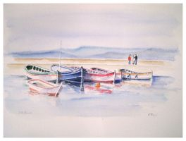Boats at Six Fours les Plages by ColourWheel