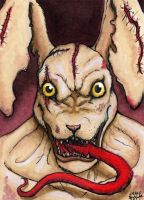 White Rabbit ACEO by AokiBengal