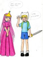 Finn X PrincessBubblegum by LittleMissAnimated