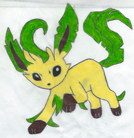 Leafeon by ShadowWolf1456