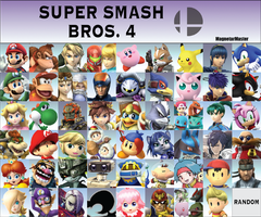 Super Smash Bros. 4 Fanmade Roster: Part 4 by MagnetarMaster