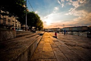 sunset in geneva. by veilside000
