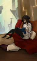The reading girl by Blue-Wave-789