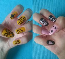 One Piece Nails by love---less