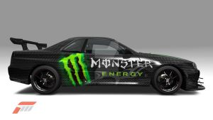 Monster Nissan car -forza- by UltimateHeretic