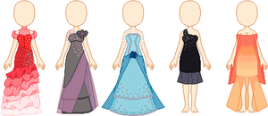 Commissions - Dress Examples by invertqueen7