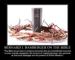 Bernard J. Bamberger on the Bible by fiskefyren
