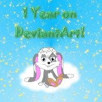 One-year anniversary on DeviantArt by SchnuffelKuschel