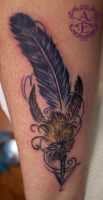 Quill Pen Forearm Tattoo done by Sean Ambrose by seanspoison