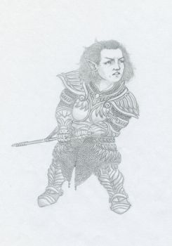 Thalmor soldier-dwarf by FriedGadfly