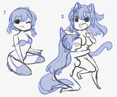 Female and Yuri YCH 2 Auction [OPEN] by Momoeko