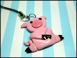 Piggy Mobile Charm by GrandmaThunderpants