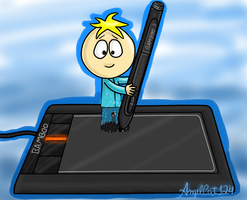 Butters drawing himself by AngelCat124