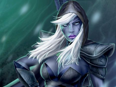 Traxex - The Drow Ranger detail by Sciamano240