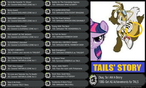 Equestrian Runner- TAILS~ ACHIEVEMENTS by Count-Author