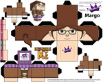 Cubeecraft Paper Craft of Margo from Despicable Me by SKGaleana