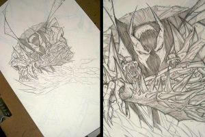 Commish 85 Spawn WIP 04 by RobDuenas