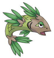 Fake Pokemon - Pine fish by Denki-Mewten