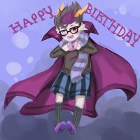 Eridan Wishing a Happy Birthday by Mokinoki212