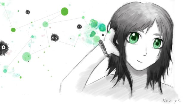 Black, white and green by Carotine007