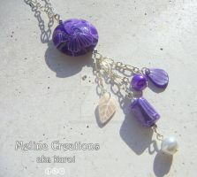 Purlpe Swirls Necklace Pendant by MelinaCreations