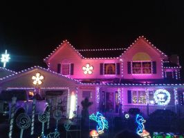 Elm Avenue Christmas House #1 by BluebottleFlyer