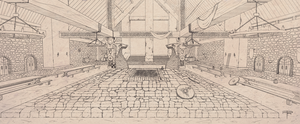 Grand mead hall, lineart by ranits123