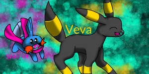 Veva and Waterfall! by X-DaveTheCat-X