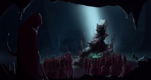 Gathering in the Dark Isle caverns by Erkahoth