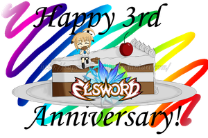 Happy 3rd Anniversary Elsword! by SupercellArrina