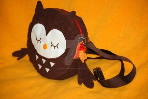 Greeting the Fall - Little Owl Bag by Greencherryplum